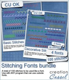 Stitching Fonts - Bundle