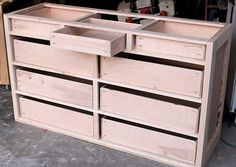 The best DIY projects & DIY ideas and tutorials: sewing, paper craft, DIY. DIY Furniture Plans & Tutorials : How to build dresser drawers -Read Building Furniture, Diy Furniture Plans, Small Furniture, Furniture Projects, Furniture Decor, Furniture Design, Furniture Stores, Furniture Outlet, Repainting Furniture