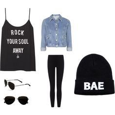 Rock your soul away! by xleahnoelx on Polyvore featuring Topshop, James Perse and Calvin Klein