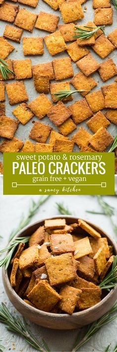 Complete your next snack board with these Sweet Potato Paleo Crackers - only 7 ingredients needed & easy to make!  Grain Free + Vegan