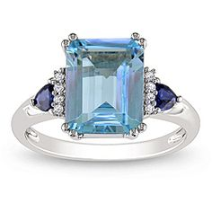 @Overstock - Blue topaz, sapphire and diamond accent ring10-karat white gold jewelryClick here for ring sizing guidehttp://www.overstock.com/Jewelry-Watches/14k-White-Gold-Blue-Topaz-Sapphire-and-Diamond-Accent-Cocktail-Ring/6624306/product.html?CID=214117 $294.99