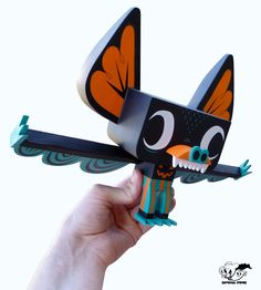 "Hermees is my second self produced vinyl toy. He stands 8"" tall with a wing span of 12"" and 8 points of articulation in the head, snout,..."