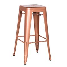 """Set of 2 Adeco stools. $121 30h Are they copper or """"brown"""", as in the description?  Adeco's site says copper"""