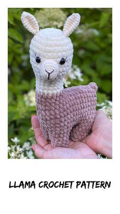 Crochet pattern llama stuffed animal toy. Plush alpaca crochet toys for kids. Crochet pattern amigurumi llama toy. Newborn Crochet Patterns, Easy Crochet Patterns, Crochet Patterns Amigurumi, Amigurumi Doll, Crochet Dolls, Handmade Ideas, Handmade Toys, Plush Pattern, Pdf Patterns