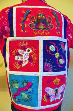 Antique 1960 Vintage Embroidered Patchwork Dragon Orient 3D Jacket Excellent #Handmade #Formal