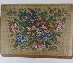 Antique Vintage Berlin Woolwork Chart Hand Painted Tapestry Embroidery Wool AE | eBay