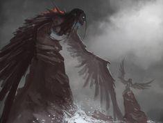 Greek sirens by MorkarDFC on DeviantArt Fantasy Concept Art, Fantasy Art, Fantasy Creatures, Mythical Creatures, Sirens Greek Mythology, Angel Demon, Witcher Art, David, Environment Concept Art