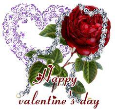 Imagen con movimiento de una rosa y un corazon para san valentin