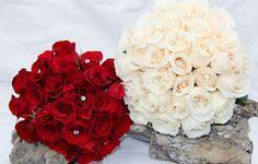 Rose Bouquet accented with Sparkling Diamanté! Brides And Bridesmaids, Bridesmaid Bouquet, Cream Roses, Rose Bouquet, Spring Wedding, Wedding Flowers, Sparkle, Nova Scotia, Elegant