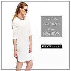 moda kobieta sukienka biała sukienka stylizacje wiosna lato  2015 Spektra  spectrum fashion
