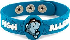 Allermates Fish Allergy Awareness Wristband Detective Fin, 2015 Amazon Top Rated Wristbands #HealthandBeauty