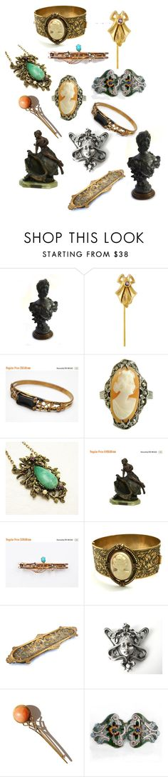 """""""Art Nouveau Treasures"""" by patack ❤ liked on Polyvore featuring vintage"""
