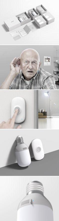 A Doorbell for the Deaf Sketch Design, Ux Design, Technology Gadgets, Tech Gadgets, Packaging Design, Branding Design, Bluetooth Gadgets, Fire Drill, Medical Design