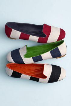 The Riley Awning-Stripe Slipper #johnstonmurphy