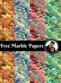 Free Marble Digital Paper Pack compressed zip file- 4 pages