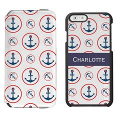 Personalized Nautical Anchor And Heart Incipio Watson™ iPhone 6 Wallet Case from #Ricaso