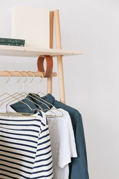 DIY Cloth Rack with Leather details