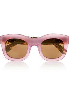 Illesteva Hamilton D-frame acetate mirrored sunglasses