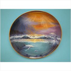 Franklin Mint Dawn of the Dolphin Fine Porcelain Plate on eBid United Kingdom