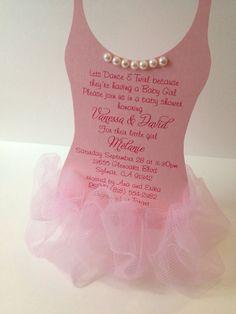 Tutu Baby shower invitation - Ballerina baby shower invitation on Etsy, $3.75