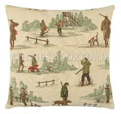 The Country Shoot - Fine Woven Tapestry Cushion Fine Woven Tapestry Cushion finished with luxurious British velvet back Cushion made in England by