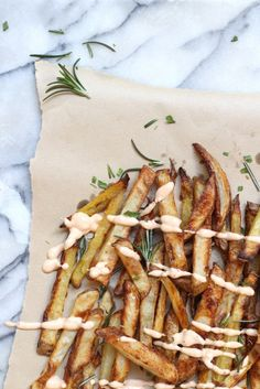 Snack on some oven baked fries with chipotle aioli.