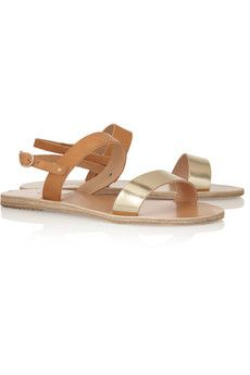 843545c9a2f5cd Ancient Greek Sandals - Clio two-tone leather sandals