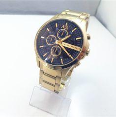 Original/Genuine Classic Armani exchange Ax2137 black dial GOLD band New Quartz Men`s watch Stainless steel strap round analog -- Shop now on http://s.click.aliexpress.com/e/mqJMFYVFA