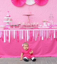 First Birthday Parties | Adorable Pretty in Pink 1st Birthday Party