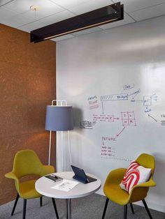 Crea una pared de lo más práctica y funcional haciendo de ella una pizarra blanca, ideal para centros de enseñanza y de trabajo. ¡Máxima inspiración aquí!