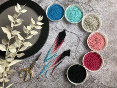 Seed Bead Jewelry, Seed Bead Earrings, Fringe Earrings, Beaded Earrings, Tribal Earrings, Beading Patterns Free, Beaded Jewelry Patterns, Bead Crochet Rope, Earring Tutorial