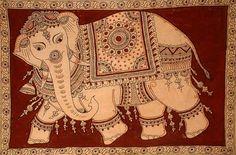 Indian Painting Styles...Kalamkari Paintings (Andhra Pradesh)-kalamkari-elephant1-3-.jpg