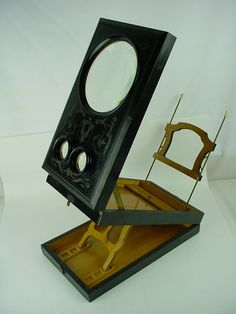 Vintage Tabletop Stereoscope Stereo Card Viewer Education Cartography