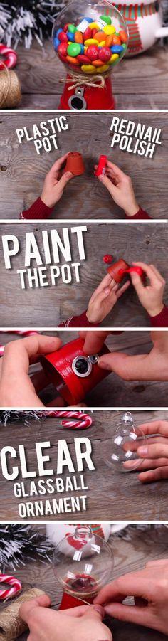 Mini Gumball Machine | Easy DIY Birthday Gifts for Boyfriend | Easy Last Minute Christmas Gifts DIY