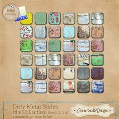Dirty Metal Styles {the Collection}  by #Snickerdoodle Designs #theStudio