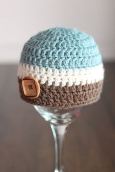 Crochet boy hat newborn photography prop by LittleSunshineShop11