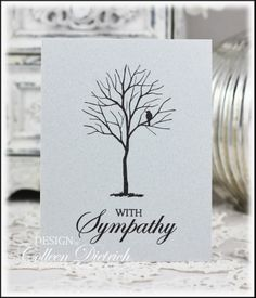 This is not - but I could use the Sheltering Tree Some of the Quickest Sympathy Cards Ever: Dietrich Designs . sympathy card using Hero Arts sentiment, tree and bird from Branch Out / Stampin' Up! Paper Cards, Men's Cards, Craft Cards, Card Crafts, Baby Cards, Stamping Up Cards, Get Well Cards, Creative Cards, Greeting Cards Handmade