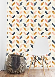 Removable Wallpaper Hand Painted Watercolor Self Adhesive Modern Temporary Wallpaper Peel and Stick Minimalist Wallpaper Mural Accent Wall Office Paint Colors, Accent Wall Paint, Modern Wallpaper, Hand Painted Walls, Wall Wallpaper, Modern Wallpaper Accent Wall, Removable Wallpaper, Dining Room Accents, Bedroom Wallpaper Murals