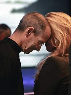 Steve Jobs and his wife Laurene. Steve died from carcinoid cancer. He went to Basel in Switzerland and had the PRRT but still died. Poor Steve. So so sad