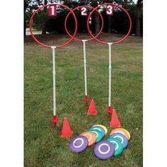 Disc Golf Sets Fixed Height Outdoor - - Disc Golf Target Set (corporate picnic games)