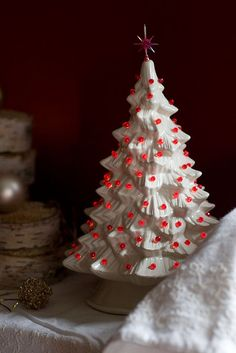 Light up ceramic trees! Reminds me of my mommy and being home for Christmas.
