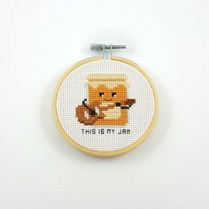 This is my jam cross stitch kit funny cross stitch kit diy Cross Stitch Quotes, Mini Cross Stitch, Modern Cross Stitch, Cross Stitch Kits, Counted Cross Stitch Patterns, Cross Stitch Music, Funny Embroidery, Embroidery Hoop Art, Cross Stitch Embroidery