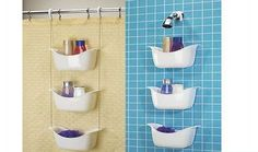 10 cool and creative shower caddy designs for trendy bathrooms  Hometone