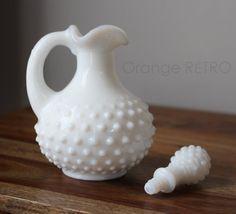 Vintage Avon white Milk glass bottle  by OrangeRetroVintage