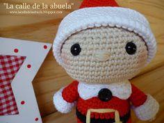 "La calle de la abuela: ""TELMO"", el pequeño ayudante de Santa Claus Hello Kitty, Crochet Hats, Elfa, Mini, Christmas, Character, Humor, Irene, Christmas Ornaments"