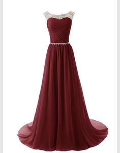 This beautiful red dark dress with diamonds is gorgeous!!