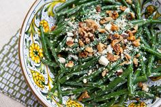 Green Beans With Blue Cheese Crumbles & Toasted Walnuts