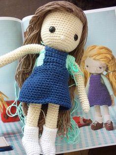 KnoopjesZ haken: Crochet my doll....Het schoolmeisje ♡