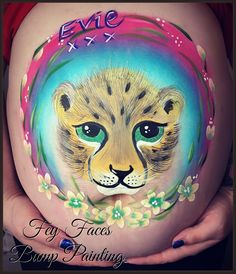 We offer professional baby bump painting / pregnancy art. Experienced body artists with a large portfolio. Based in Carterton, Witney, Oxfordshire. Bump Painting, Belly Painting, Professional Face Paint, Leopard Cub, Pregnancy Art, Face Paintings, Baby Bumps, Ariel, Cubs
