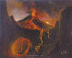 Bob's ART du Jour: Volcanoes,Lava,Dragons..oh my!